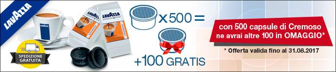 500 + 100 Lavazza Cremoso