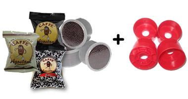 cialda caffè Agostani monodose con adattatori