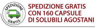 Spedizione Gratis con 160 capsule Solubili Agostani