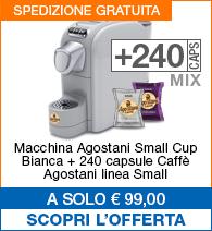Offerta small cup Bianca con 240 capsule