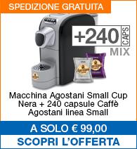 Offerta small cup Nera con 240 capsule