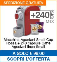 Offerta small cup Rossa con 240 capsule