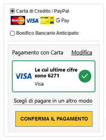 Conferma pagamento carta