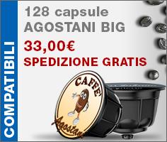 128 Capsule Agostani compatibili spedizione gratuita