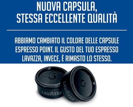 nuova capsule nera lavazza espresso point