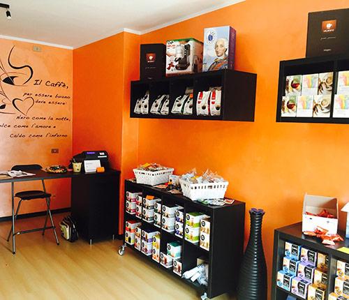 Esempio punto vendita negozio caffè in capsule