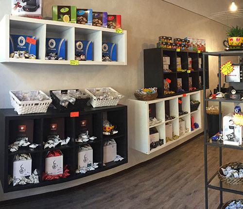 Interno negozio cialde caffè senza franchising